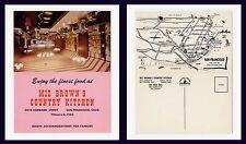 US CALIFORNIA SAN FRANCISCO MIZ BROWN'S COUNTRY KITCHEN LOMBARD ST CIRCA 1955