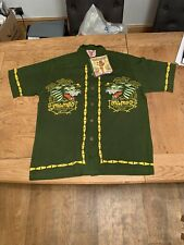 Mambo Loud Shirt ..VINTAGE . Tropicana Lounge Dark Green New Small