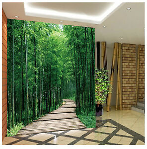 3D Bamboo Forest Path 47 Paper Wall Print Wall Decal Wall Deco Indoor Murals