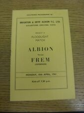 10/04/1961 Brighton e Hove Albion V frem Friendly []. grazie per la visualizzazione TH