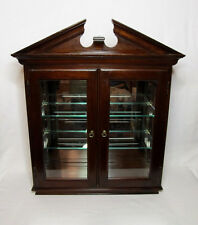 Vintage Ethan Allen Georgian Court Cherry Wall Curio Cabinet Mirror