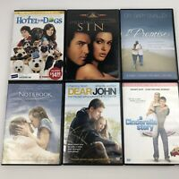 Romantic Comedy Lot of 6 DVD Movies Notebook Promise Cinderella Hotel Dogs John
