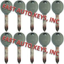 10 NEW CHRYSLER DODGE JEEP UNCUT IGNITION KEY WITH TRANSPONDER CHIPPED BLANKS