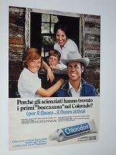 Advertising Pubblicità 1970  DENTIFRICIO CHLORODONT