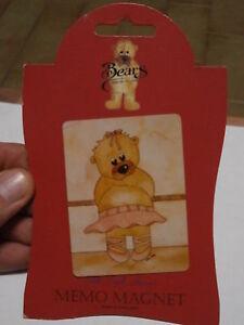 Rare Réfrigérateur Aimant Sarah Jane Bears Collection Réfrigèrateur 8x6 CM