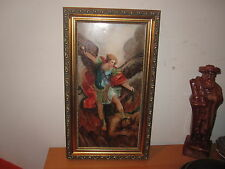 "Marked KPM Hand Painted Porcelain Plaque Painting 6.5"" x 12.5"""