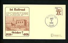 US Postal History Railroad Train 1st Quarries to Neponset River 1976 Quincy MA