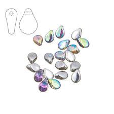 Preciosa Pip™ Czech Glass Beads Crystal Silver Rainbow Pck of 20 (M29/4)