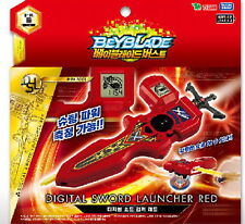 TAKARA TOMY BEYBLADE BURST B-94 DIGITAL SWORD LAUNCHER  RIGHT & LEFT (RED)