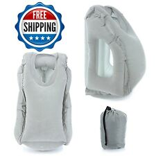 Inflatable Airplane Travel Neck Support Blow Up Ultimate Go Air Large Pillows