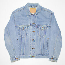 Vintage LEVI'S Relaxed Trucker Blue 90s Woven Denim Jacket Mens M