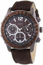 Guess Women's Chronograph Bronze Tone Textured Leather Strap Watch U0017L4