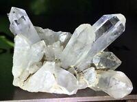 122.37G Natural Clear Quartz Crystal,Faden Inclusion, Collectors Piece