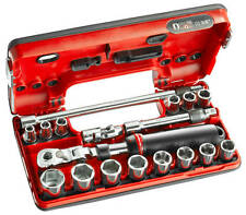"FACOM 3/8"" DRIVE 18 PIECE FLEXI HEAD RATCHET SOCKET SET * NEW DESIGN 8mm - 22mm"
