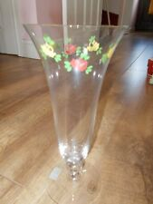 Beautiful floral glass vase, hand made