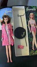 Vintage Dressed Box Japanese Francie Barbie Doll #FR1261 Box Stand booklet