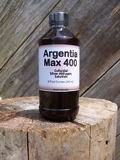 Nature's Extra Argentia Max 400 Colloidal Silver 400 ppm Solution, 8 oz.