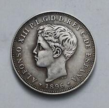40 Centavos 1896 Puerto Rico Alfonso XIII
