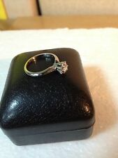 0.20 CK  White Diamond Solitaire Engagement Ring 14k Setting, size  approx: 51/2