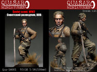 Quasar Miniatures 1:16 WWII Soviet Scout Resin Figure Kit #Qus-16001