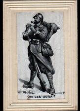 MILITAIRE POILU / CARTE POSTALE Systéme Brodée tissée soie M. MAHUT en 1914-18