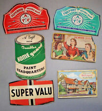 6 damaged vintage needle cases Shakespeare Gambles Susan  Super Value ATC