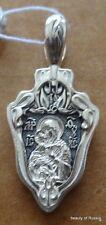 PLATA 282m Colgante Madre Dios Consecrated the Relics San Jorge