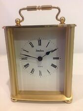 Neiman Marcus - Gold Tone Table Desk Clock - Made In Germany - Quartz