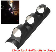 Racing Car 52mm 3 Hole A-Pillar Meter Gauge Bracket Mount Holder Protector Black