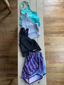 BNWT Lot NIKE Womens Activewear: 3 Tanks, 1 Shorts Sz Sm/Med
