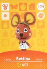 *New* Nintendo Animal Crossing Card #174 Bettina Us Version Series 2