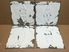 """4 pc Lot 12"""" by 11"""" Antique Ceiling Tin Metal Reclaimed Salvage Art Craft"""