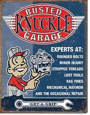Expert Busted Knuckle Garage TIN SIGN funny dad mechanic metal poster decor 2144