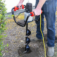 """1500W Electric Post Hole Digger with 6"""" inch Digging Auger Drill Bit Black"""