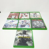 Xbox One Lot Of 7 Games Microsoft Genuine Authentic