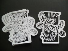 8 DIE CUT WHITE  BUTTERFLY  FRAMES/TOPPERS FOR CRAFTS