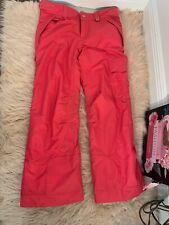 686 Ski Snowboard Snow Pants Womens Sz Large Neon Pink  Winter Warm