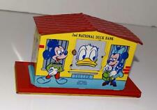 "EX+ DISNEY 1950's ""2nd NATIONAL DONALD DUCK MECHANICAL TIN BANK""-RED VERS.-WORKS"