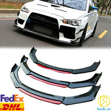 FOR 2008-2015 MITSUBISHI LANCER EVO X 10 GLOSS BLACK FRONT BUMPER LIP SPLITTER