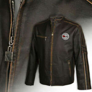 Mens C1 Racer Welterweight Long Leather Jacket CLEARANCE 2X, 3X, 4X & 5X 620370