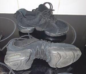 Bloch S0538G Kids Size 13.5 MESH DANCE Split Sole Sneaker Black Unisex