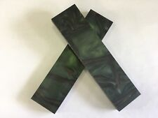 "KIRINITE: Jungle Camo 3/8"" 6"" x 1.5"" Scales for Wood Working, Knife Making, Bush"