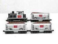 LIONEL 6-18515-51502 Steel Switcher and Three Ore Cars LN