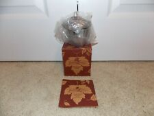 * Longaberger * Falling Leaves Collection (Metalware Acorn + Candle) # 77508
