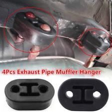 Black 4Pcs 11.5mm Rubber 2 Hole Muffler Hanger Bracket For Car Exhaust Tail Pipe