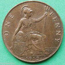 1912H George V Penny A/EF SNo25656