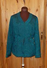 AUGUST SILK kingfisher petrol blue-green satin paisley jaquard evening jacket 12
