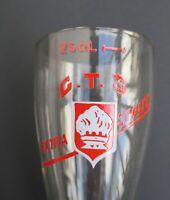 Verre à bière émaillé belge CTS EXTRA STOUT beer glass Bierglass