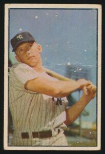 #59 MICKEY MANTLE 1953 Bowman Baseball Color NEW YORK YANKEES