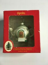 Spode Christmas Teapot Ornament NIB GIFT TREE PORCELAIN